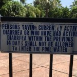 Sign as you enter pool, give you an idea of type of property...