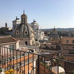 Rooftop view of Altare della Patria behind dome.