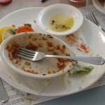 Was so excited to try the lobster pie I forgot to take a before picture, as you can see it was v