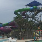 One of the water slides...safe and fun!