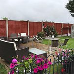 Very thoughtful garden area with bbq and outdoor music - great place to relax