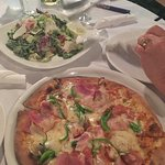 Lovely Vassilis Special pizza and Aegean salad. Delicious!