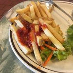 We ordered lunch - both our lunches came with French fries- the fries were almost cold -
