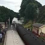 Looking north from the railway bridge at Goathland Station
