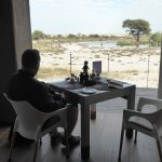 View from dining area of waterhole