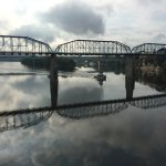 Clouds and rain in the spring, show off the bridge's mirror image.