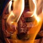 "Home made Portuguese Sausage ""au Flambee"""