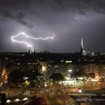 Stunning thunder storm passing through Vienna