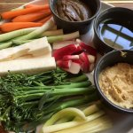 Vegetable Plate with Dips