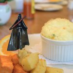 We're fans of Star Wars, and so is Don, the inkeeper, so we got a special visitor with breakfast