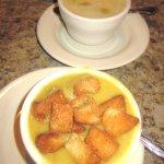 Split Pea and Chicken Noodle Soup