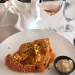 Lobster Ravioli with REAL lobster meat on top!