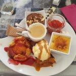 Un trop bon repas à la brasserie du parvis  Un café gourmand comme celui ci vous le trouverez nu