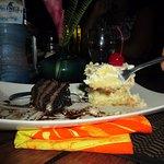Coconut Cake & Chocolate Cake