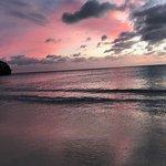 A brief shot of the beach as the sun set!