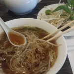 Phở Nạm Well done beef flank in rice noodle soup