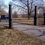 Gate with Civil War cannon and gun barrels