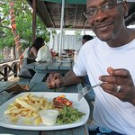 Grilled Fish, Salad & Cassava Fries