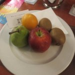 Welcome to Athens with a plate of fruit in the room when we arrived.