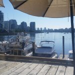Early morning view of False Creek from the restaurant