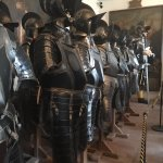 Huge armor. The men who guarded were very big.