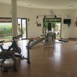 That's ALL the fitness, gym they have... for thousand of people in the hotel!!! All broken & rus