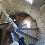 The spiral staircase you'll climb up (and down)