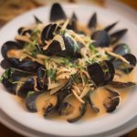 Mussels in Red Thai Curry Coconut Broth