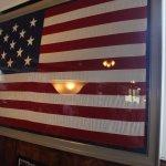 13 star flag in the Yorktown Pub.