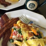 veggie omelet with gruyere