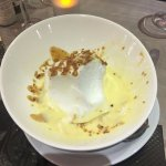Chantilly Cream with a floating pillow of meringue. DELISH!!