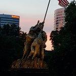 Memorial at dusk