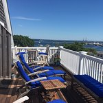 Fantastic roof deck with harbor views