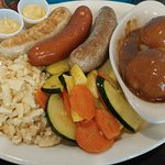 3 Sausage platter with 3 sides