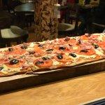 Una pizza bien chilena....pucon magico e imperdible