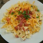 Bowtie Pasta with Bacon, Cheese and Chives