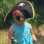 2 yr old followed big bros example of being a pirate