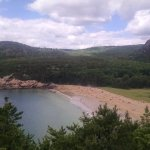 A gorgeous view of Sand Beach from a lookout on the Great Head Trail