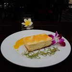 Lemongrass and Lime Cheesecake with Mango Sauce