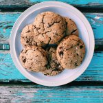 Enjoy a delicious sea salt chocolate chip cookie!