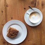 Enjoy our morning coffee with some coffee cake! Or is it the other way around?