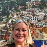 """slurping"" gelato while basking in Portofino!"