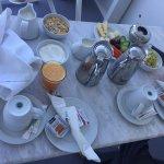 Typical Greek breakfast. Generous must say