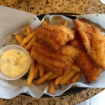 White fish and chips