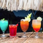 The best all inclusive premium cocktails in West Bay Beach, Roatan.