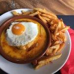 Welsh oeuf avec ses frites : parfait !!!
