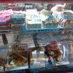 top shelve - sweets, bottom shelve - savoury meals