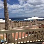 View from our balcony onto the beach.