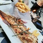 280g Grilled Kingklip with herb and caper butter, orange-fennel salad and chips