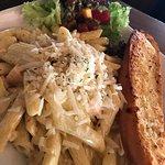Salmon Pasta set lunch